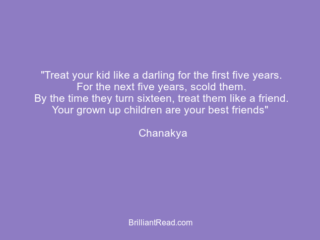 chanakya quotes on parenting son family