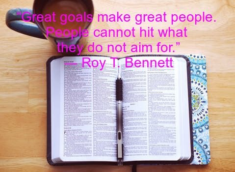 Setting personal goals quotes goal setting
