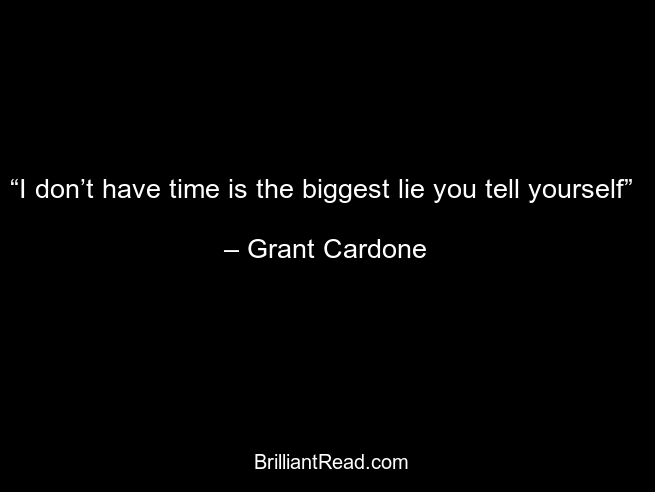 best Grant Cardone quotes on time