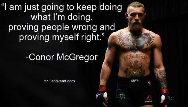 Conor Mcgregor Quotes on life love fear success and winning
