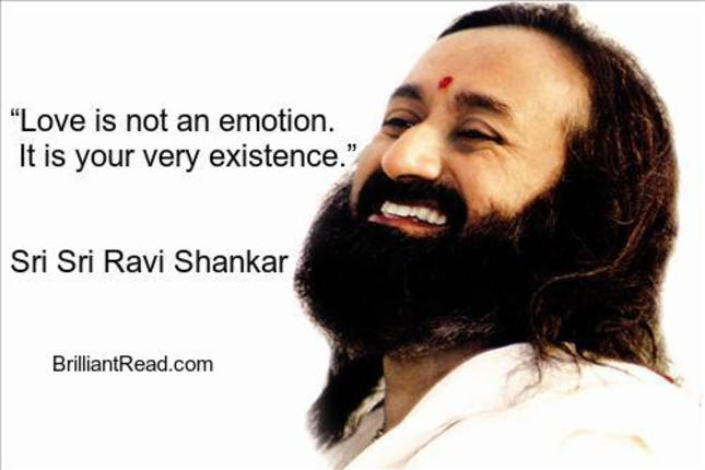 sri sri ravi Shankar quotes about love lust sex death life