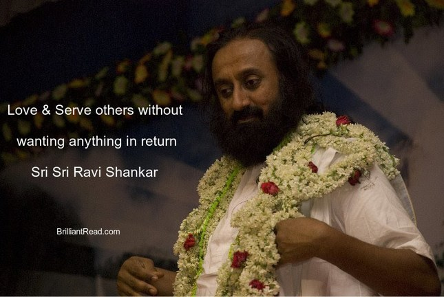 Sri Sri Quotes on love life compassion meditation happiness and death