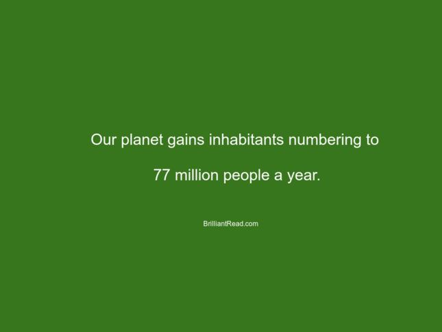 population facts environment