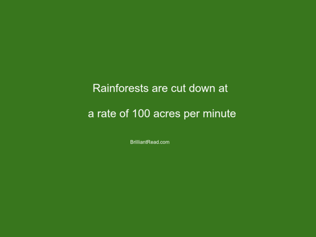 unknown facts about environment forest population water earth planet resources