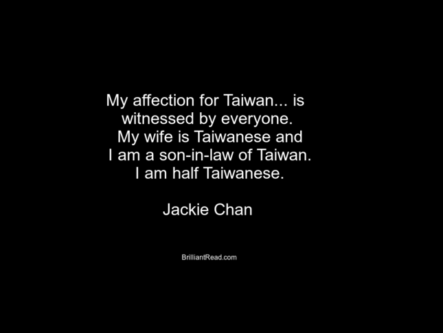 Jackie Chan Best Quotes