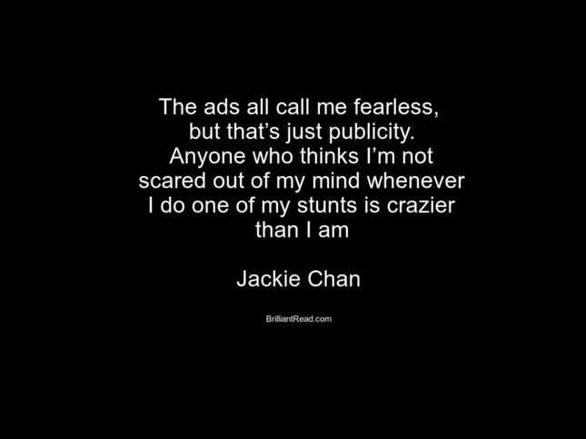 Jackie chan quotes on love and life