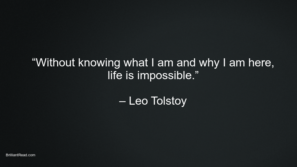 Leo Tolstoy quotes on love and life