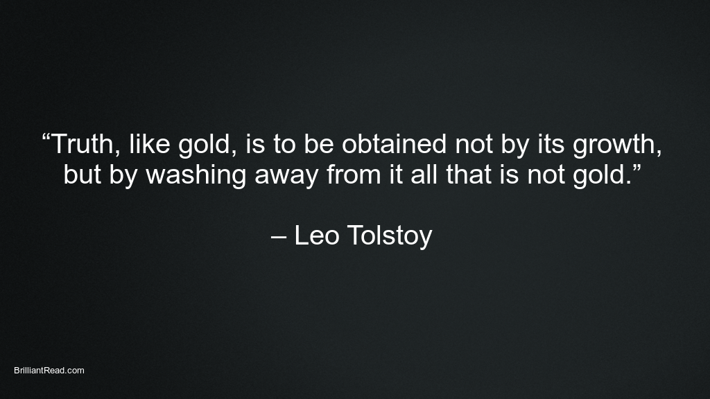 Leo Tolstoy quotes on Truth