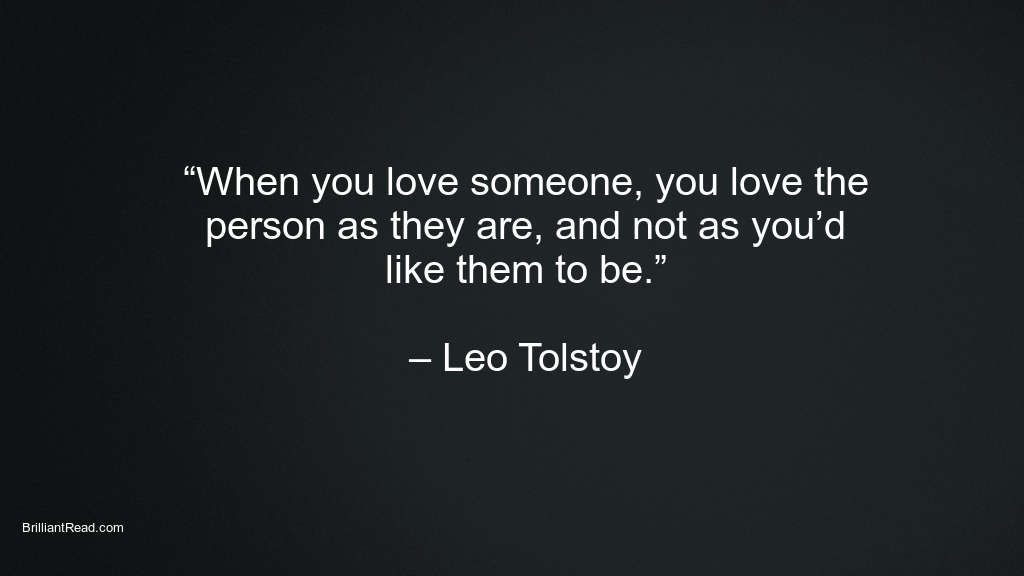 Best Leo Tolstoy quotes on love