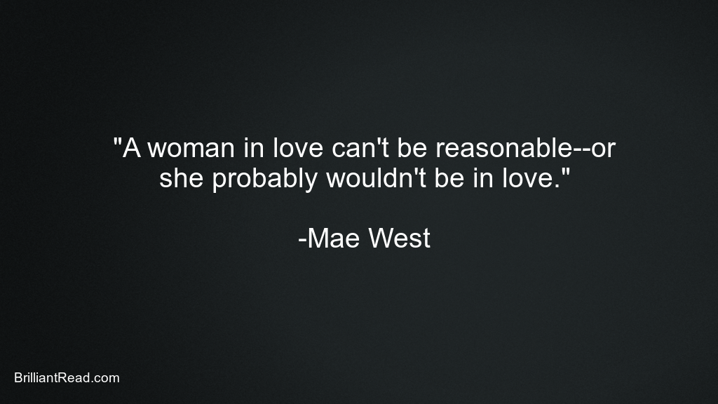 Mae West Quotes on Women