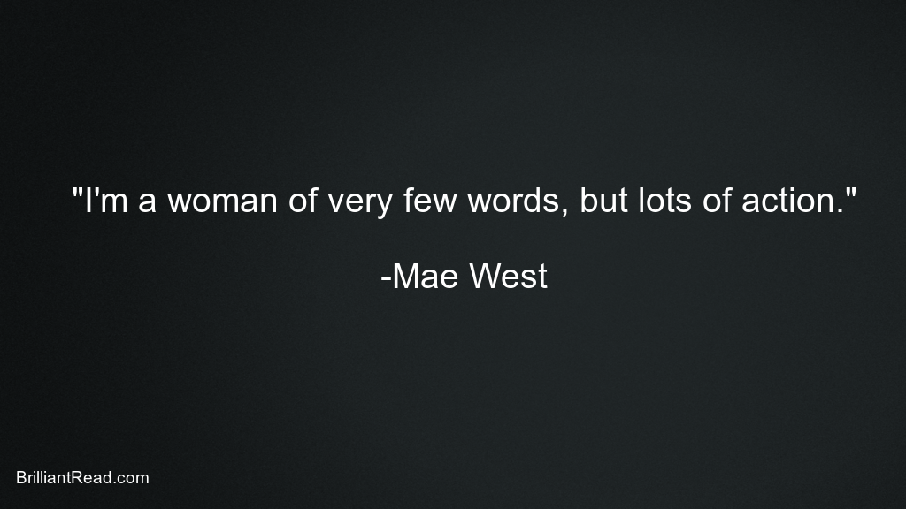 Mae West Quotes for Women