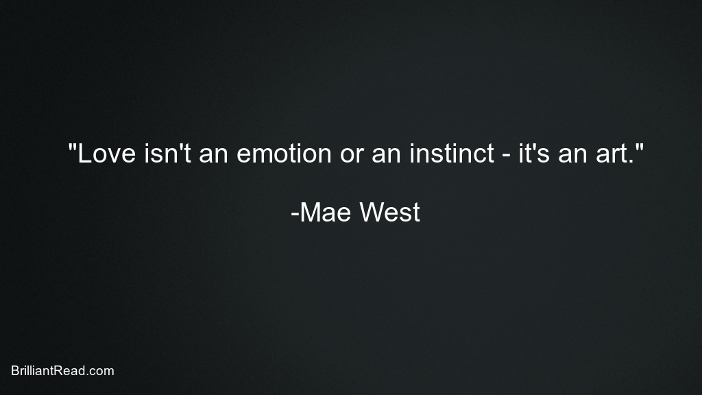 Mae West Quotes on Sex