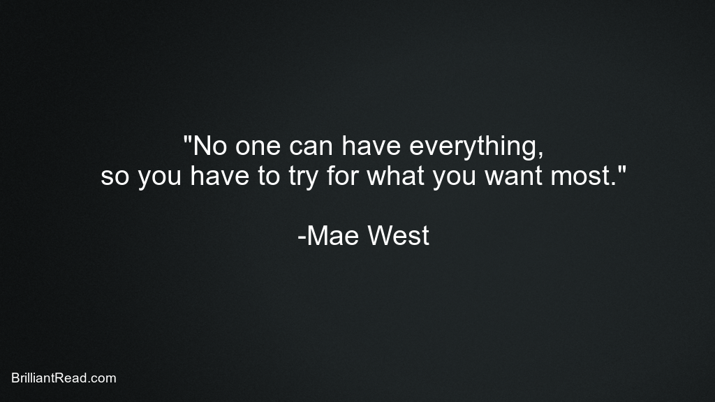 Mae West Life quotes