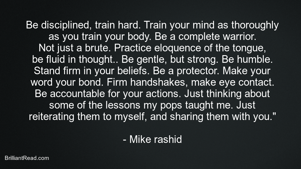Mike Rashid Best Quotes
