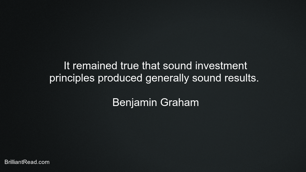 Best Benjamin Graham Quotes