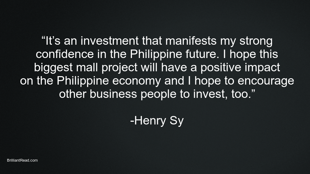 Motivational Quotes by Henry Sy