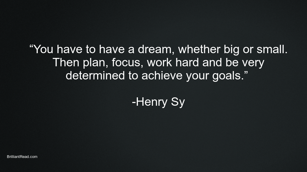 Best Success quotes by Henry Sy