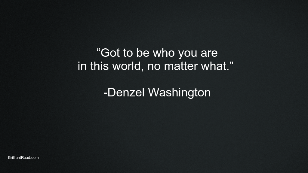 Success Quotes by Denzel Wahsington