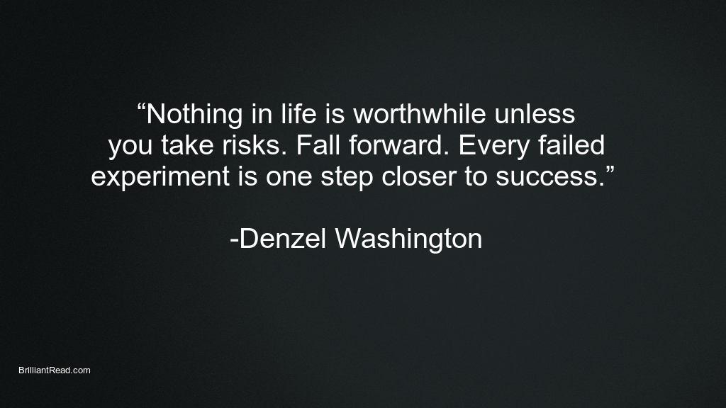 Best Inspiration Quotes by Denzel Washington