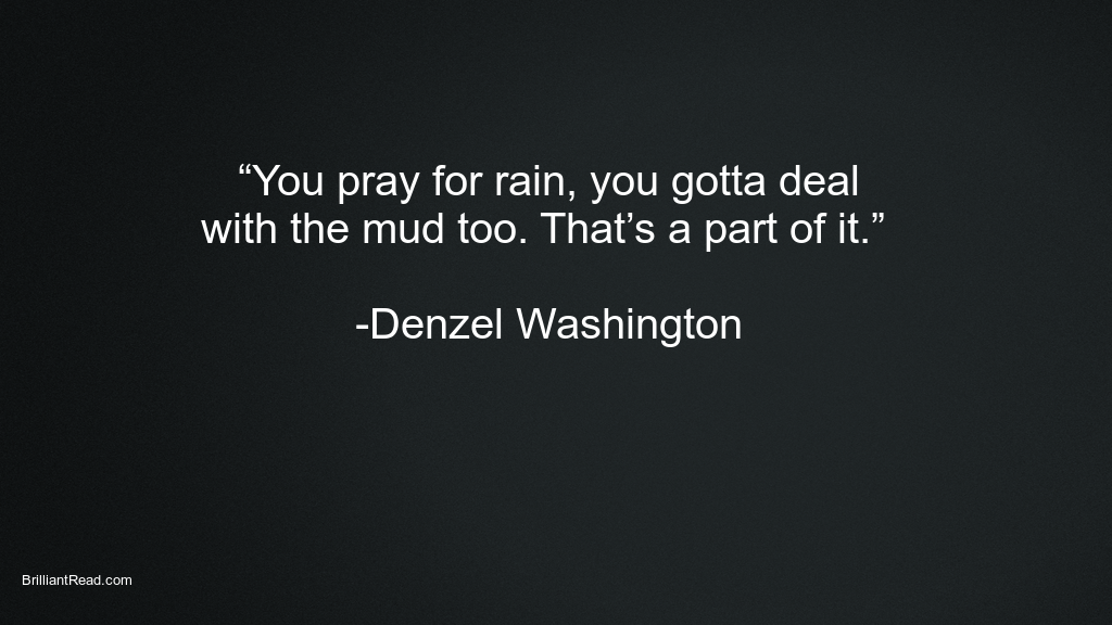 Denzel Washington success quotes