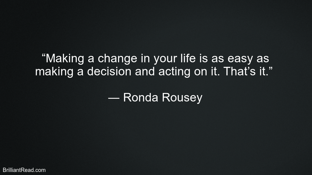 Top Best Ronda Rousey Quotes