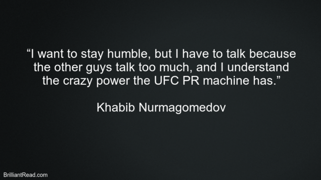 Khabib Nurmagomedov top best quotes