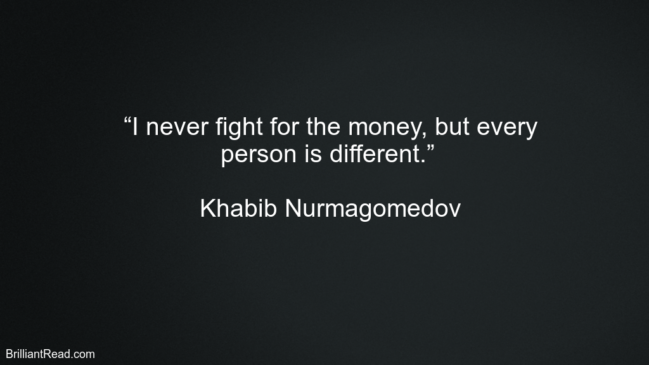 Khabib Nurmagomedov hard work Quotes