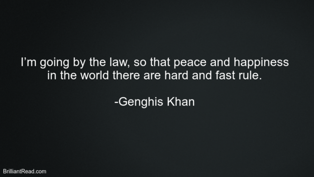Inspirational Quotes by Genghis Khan