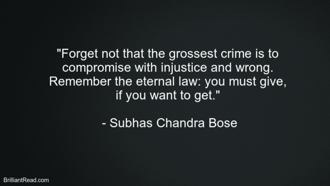 Motivation Quotes by Subhas Chandra Bose