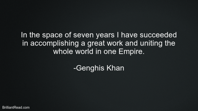 Life Quotes by Genghis Khan