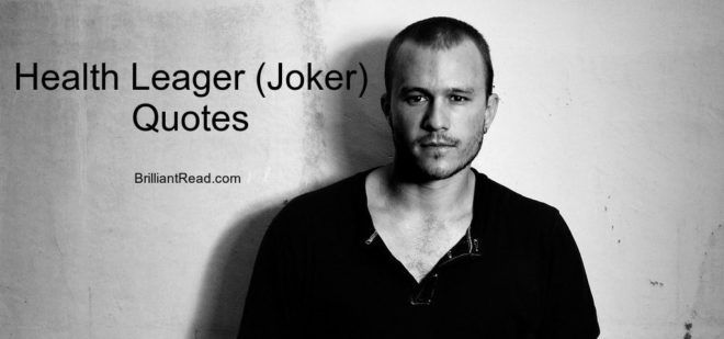 Best Health Leager Joker Quotes