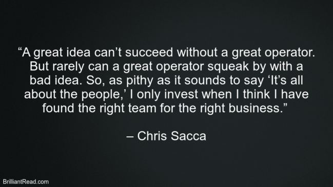 Best Chris Sacca Quotes