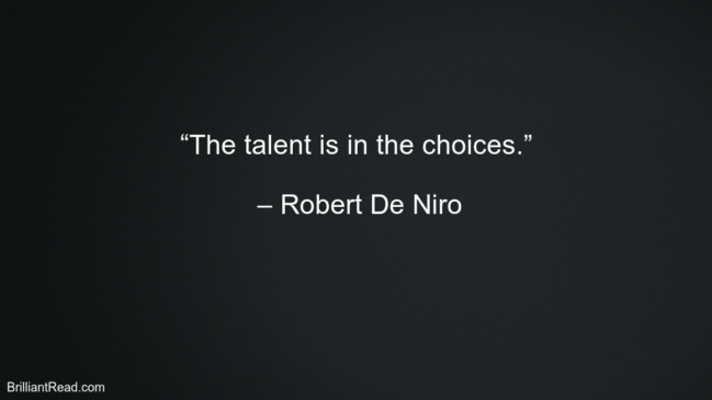 Best Robert De Niro Motivational Quotes