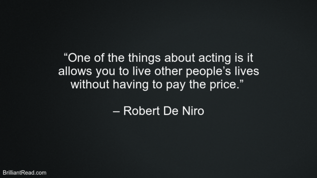 Robert De Niro Best Quotes of Motivation