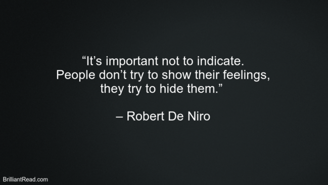 Robert De Niro Best Success Quotes