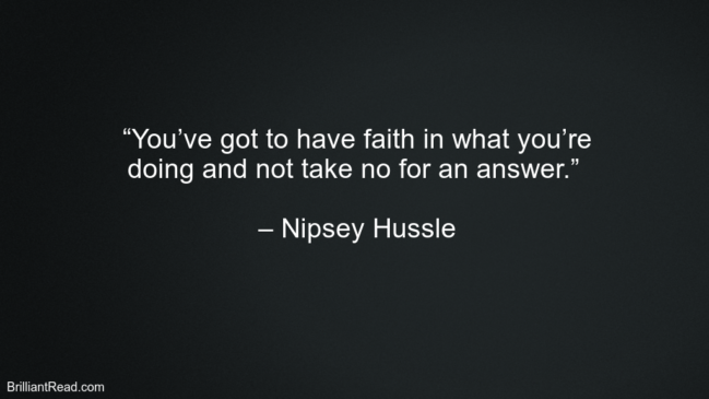Nipsey Hussle Successful Thoughts
